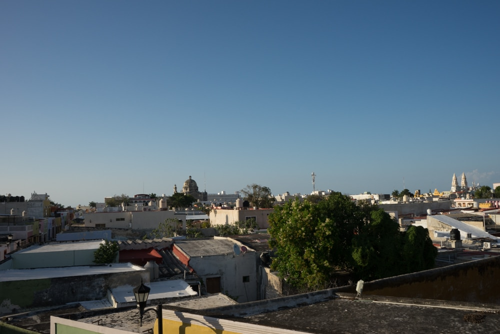 Walking the walls is a thing to do in Campeche