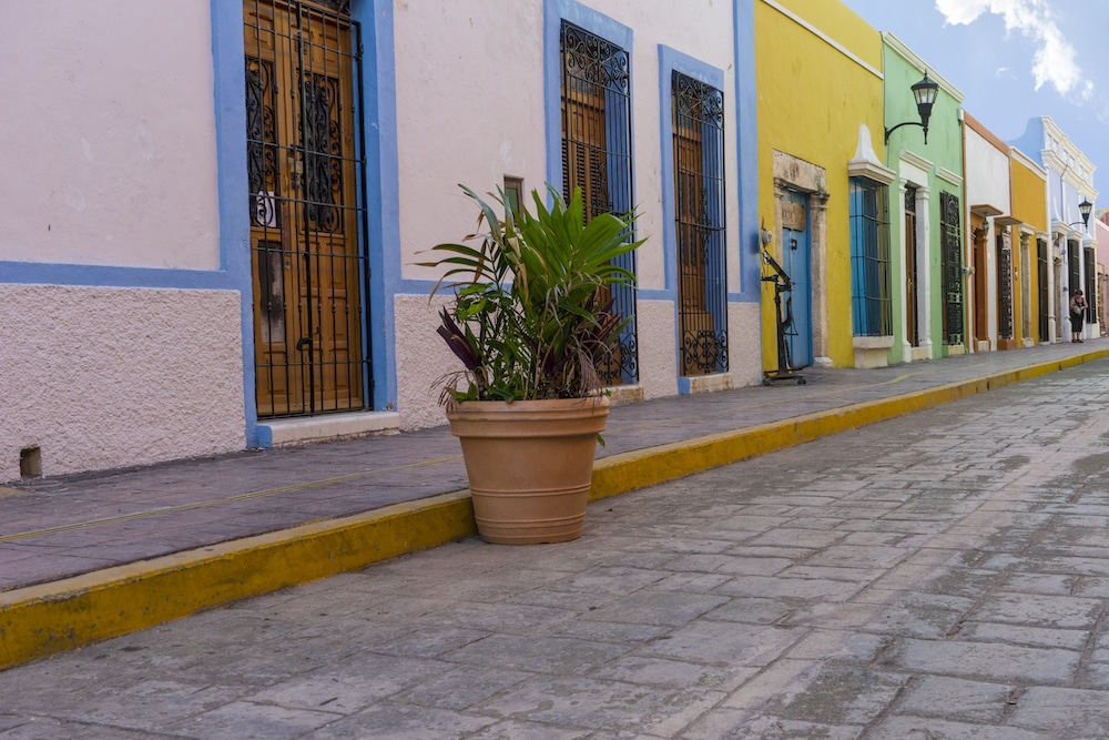 Campeche Streets Coloring Mexico