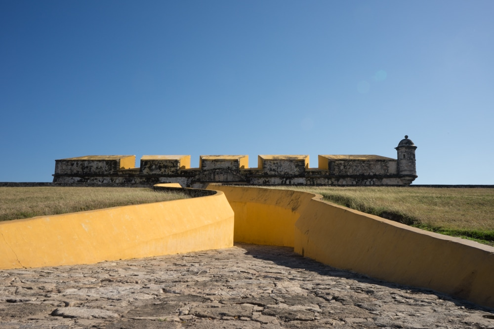 exterior of san jose el alto fort campeche mexico