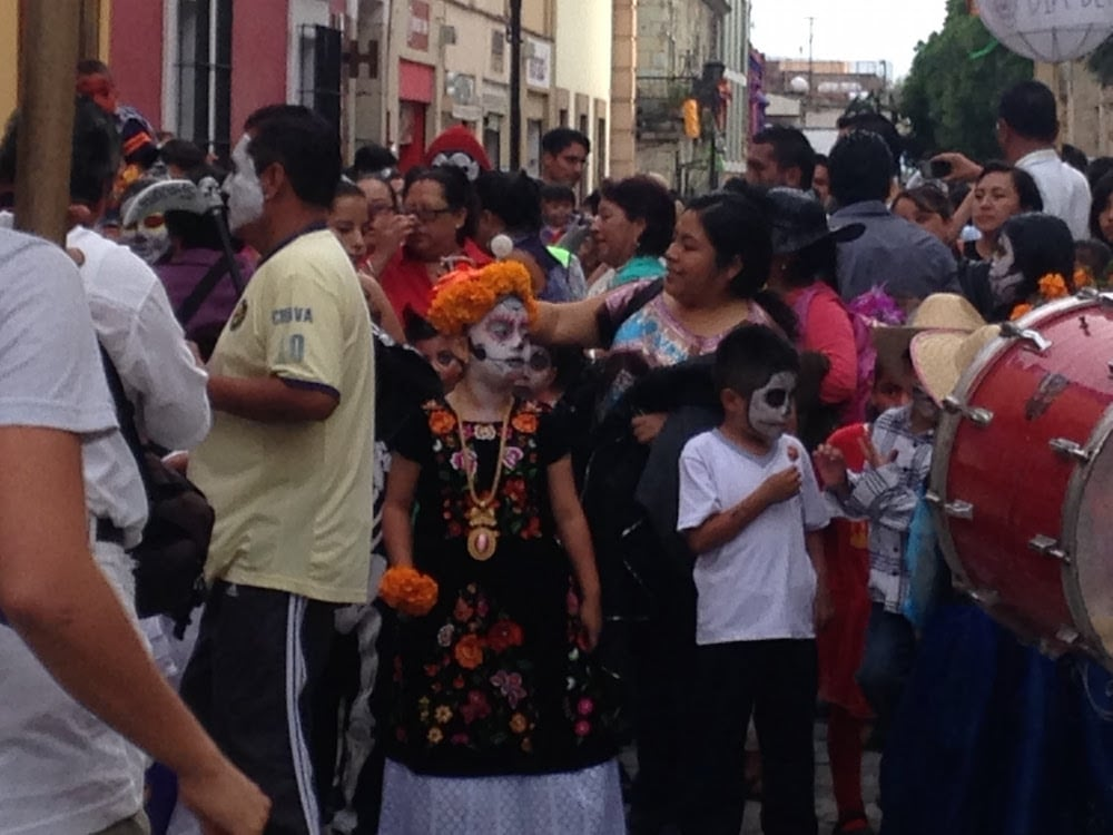 parade day of the dead in Oaxaca