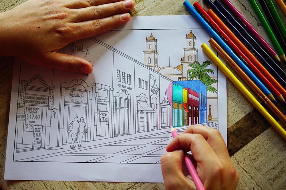 Merida-Mexico-Coloring-Page