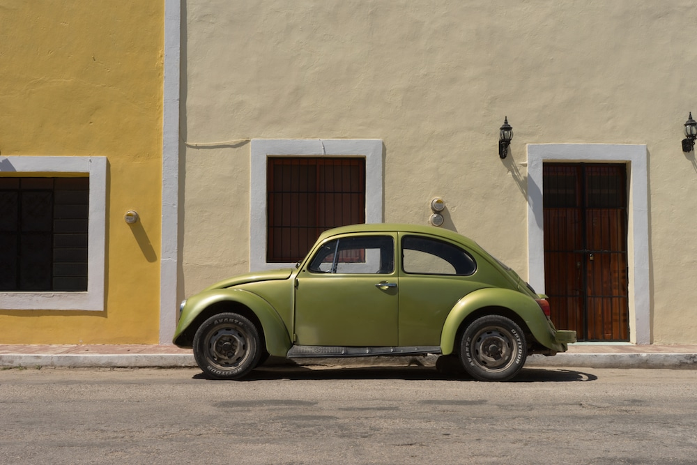 Green VW in Mexico