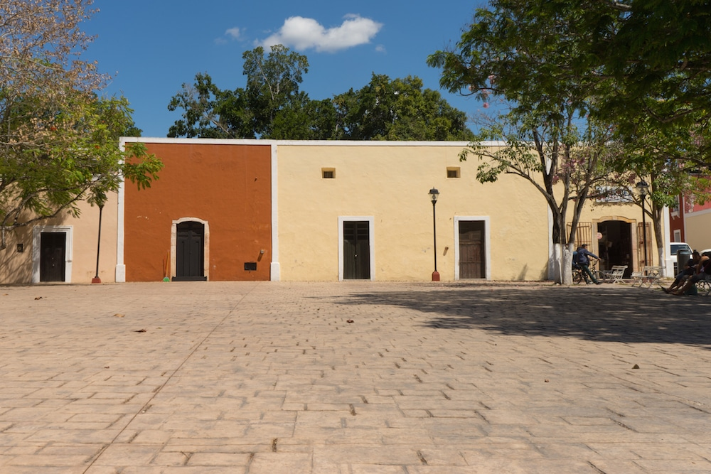 square in Valladolid Mexico