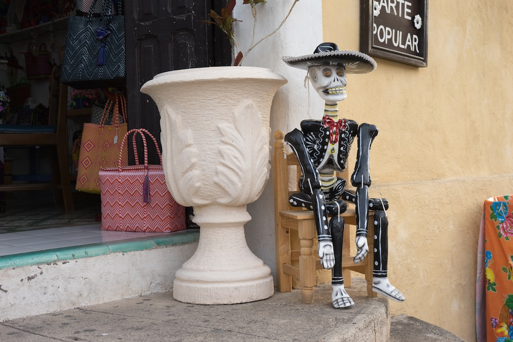 skeleton in Valladolid Mexico