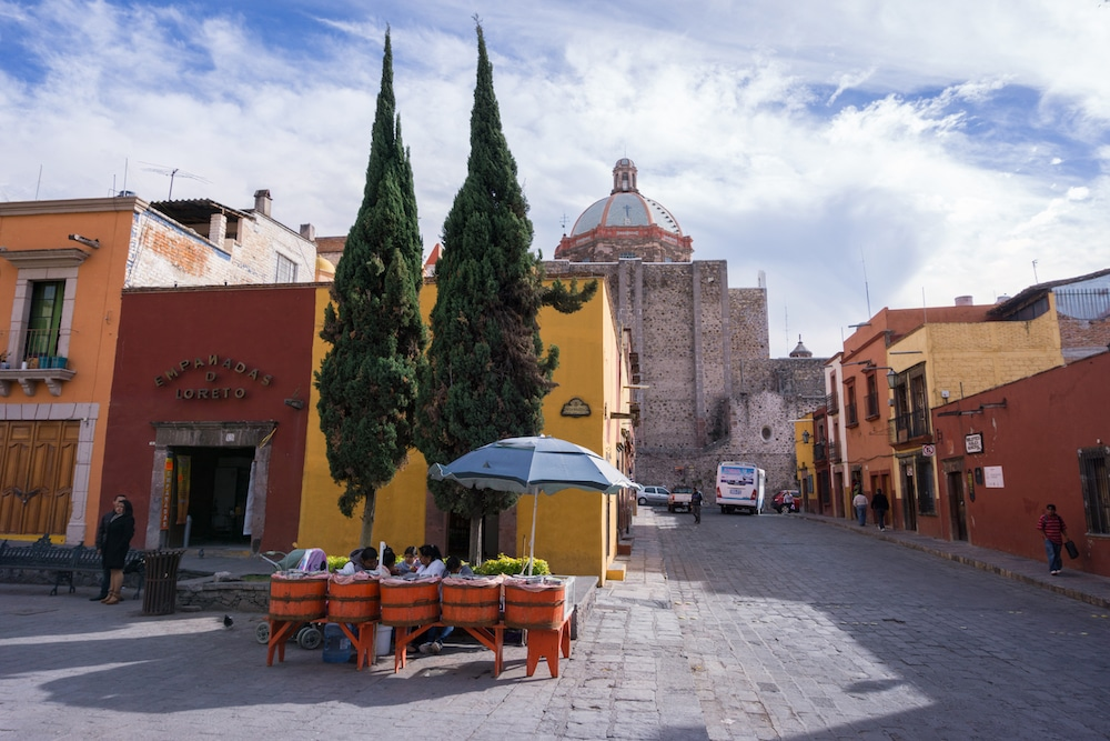 A street scene from Coloring Mexico