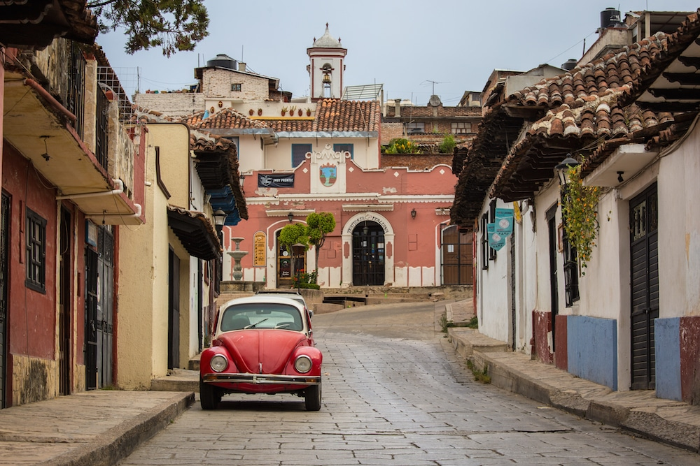 Mexico Coloring Book Scene San Cristobal