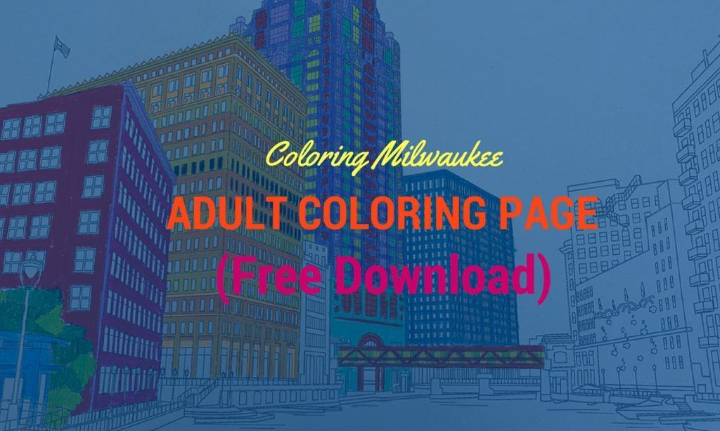 free adult coloring page Milwaukee