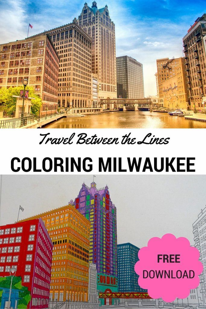 Free Adult Coloring Page of Milwaukee