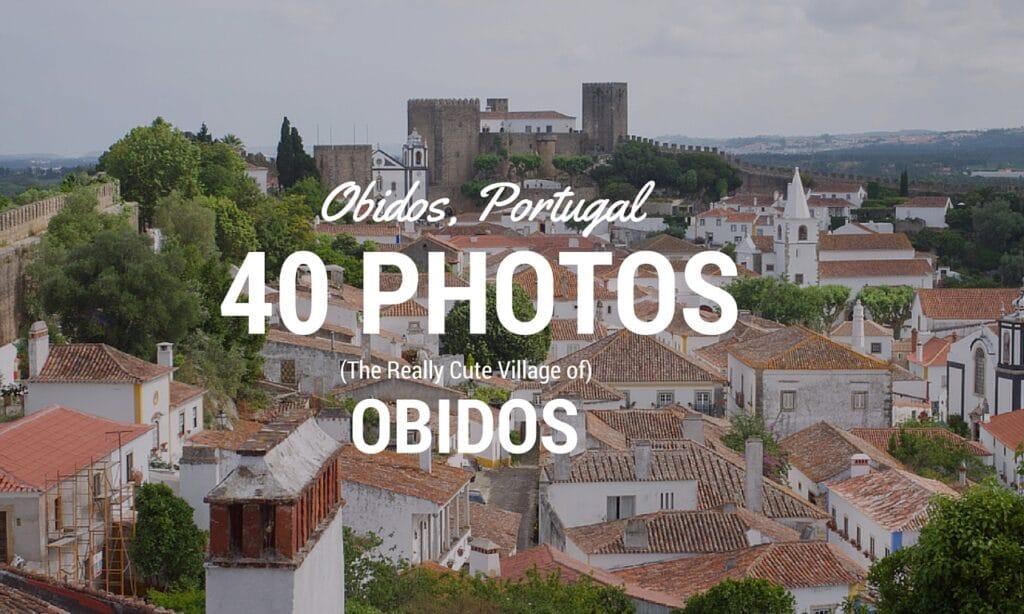 Pretty European Village of Obidos Portugal