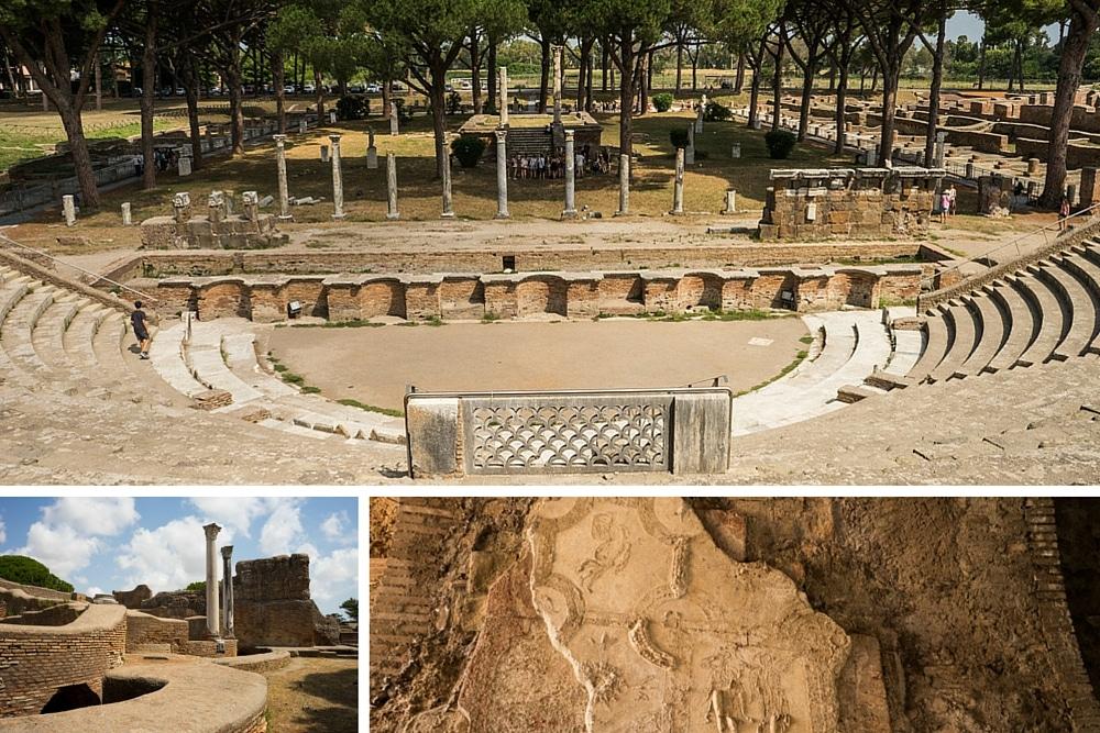 Ostia Antica Ruins Near Rome