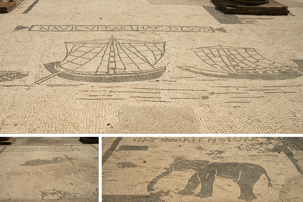 Mosaics at Ostia Antica Near Rome