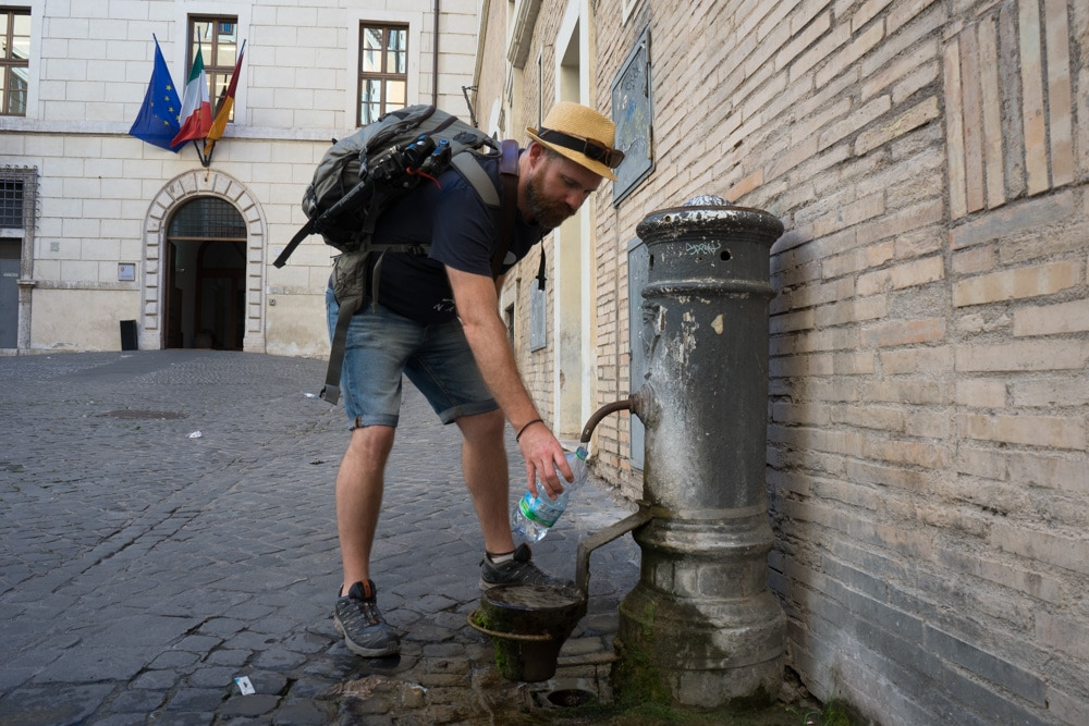 Rome Tips - Carry a Water Bottle