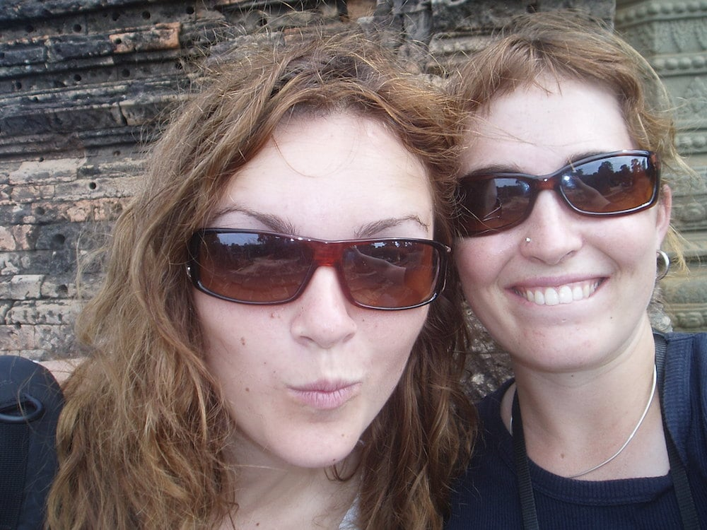 Me and Gina on our second trip to Asia...at Angkor Wat in 2004. Photo credit goes to Gina
