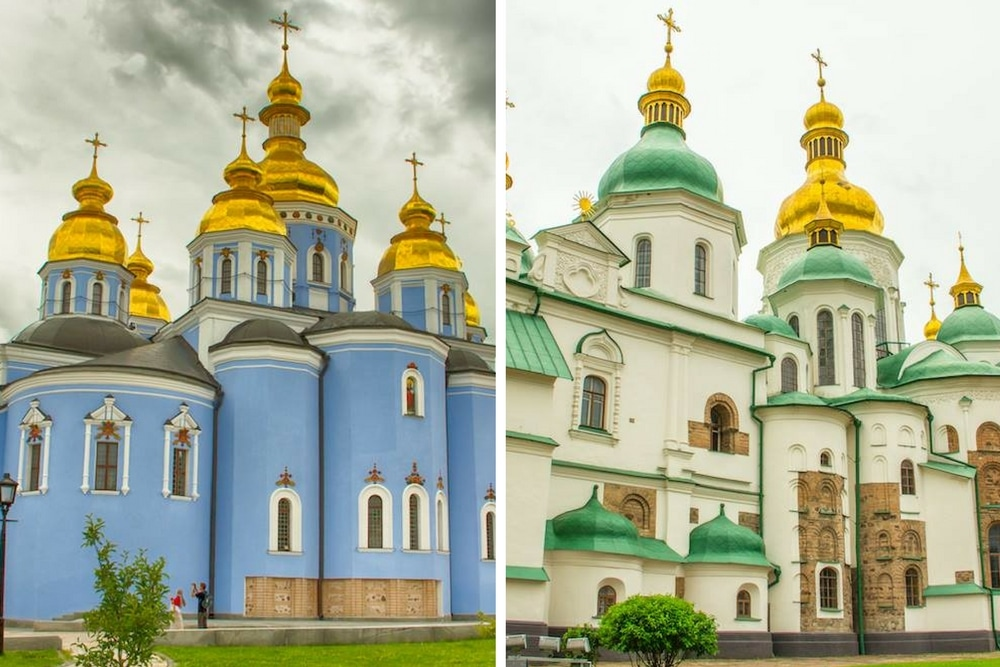 Onion domed churches Ukraine
