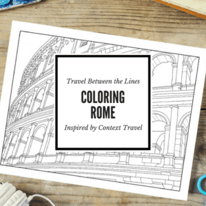 Travel Between the Lines Coloring Rome Adult Coloring Book