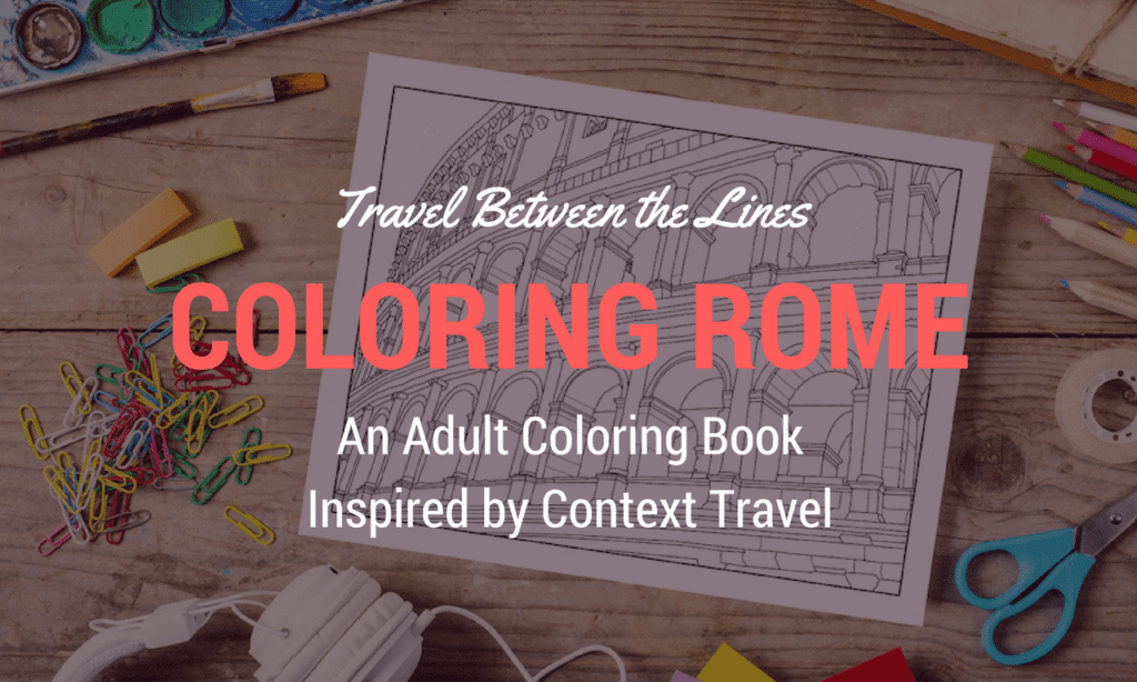 Travel Between the Lines Coloring Rome