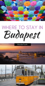 The best areas to stay in Budapest - Pinterest pin