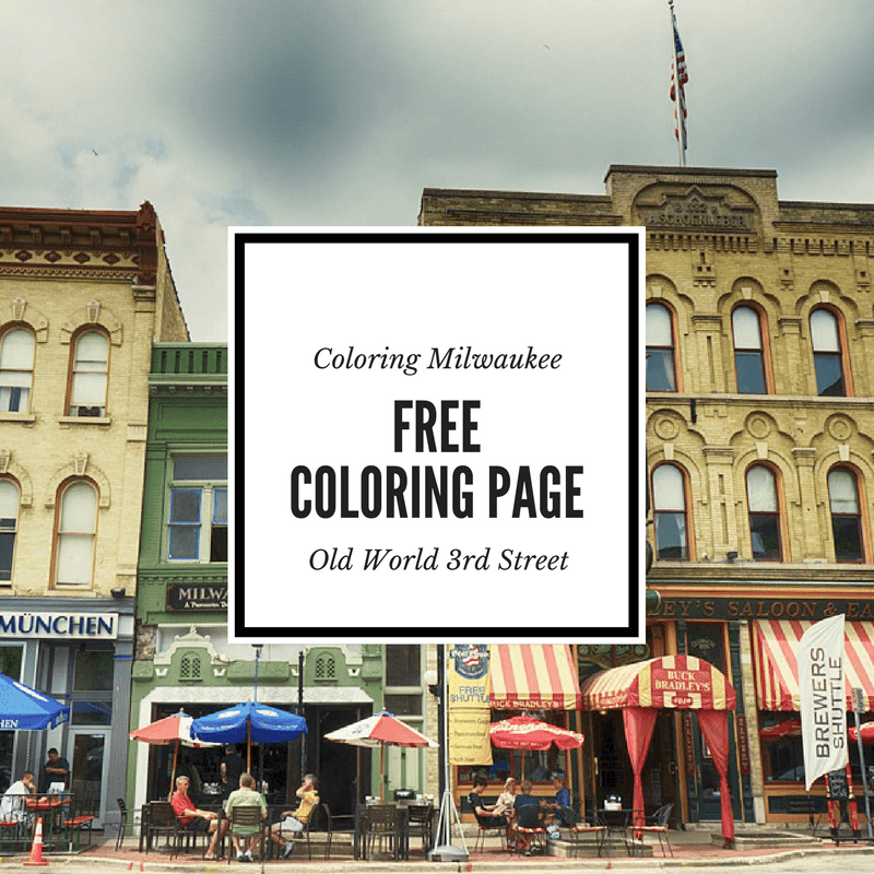 A free milwaukee coloring page of Old World 3 st