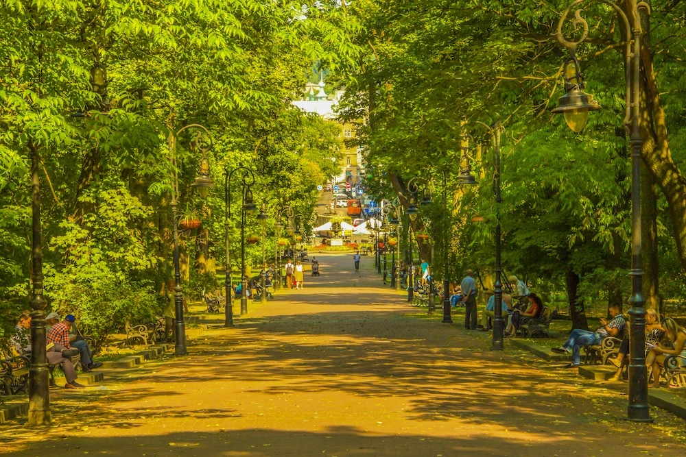ivan franko park things to do in Lviv