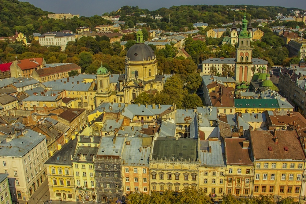 city hall view things to do in Lviv