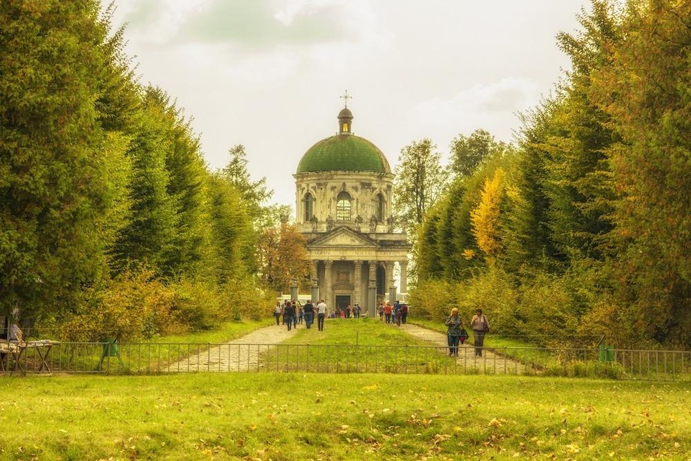 Pidgurtsi Castle Lviv Ukraine Entrance