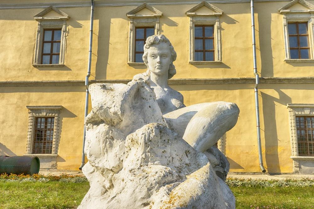 Zolochiv Castle Lviv Ukraine Statue