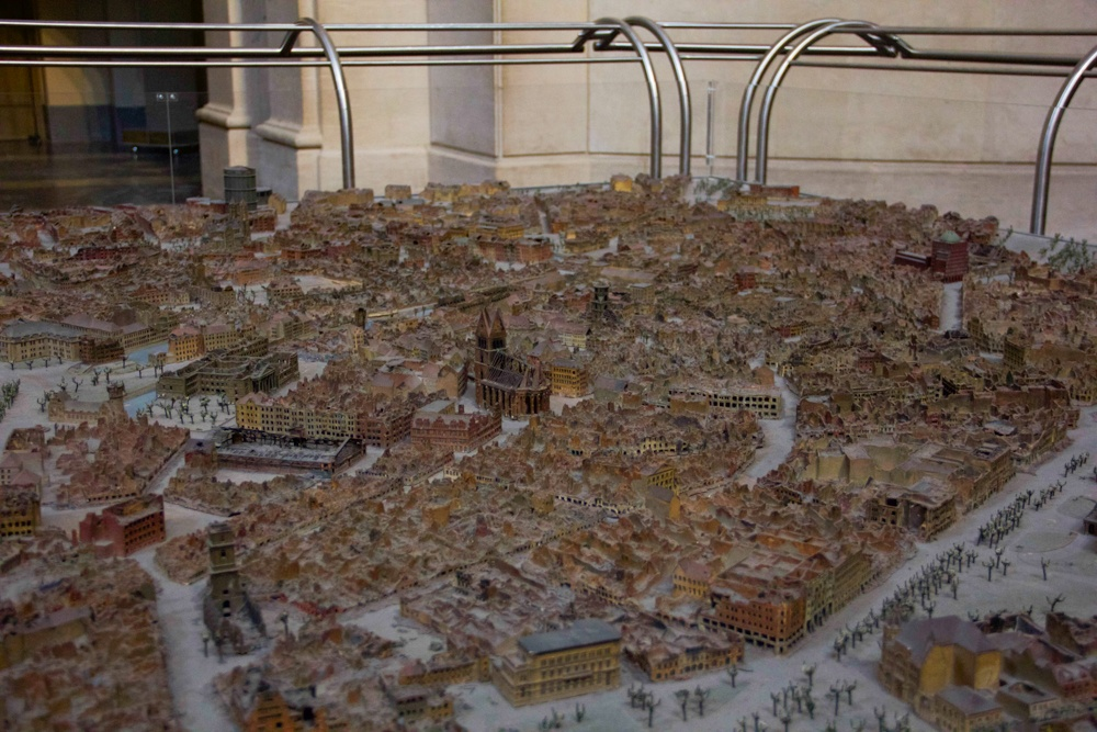 Model of Hannover Germany after WWII