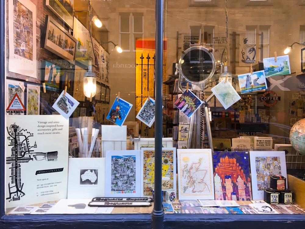 Edinburgh Shopping Guide Cockburn Street Museum Context