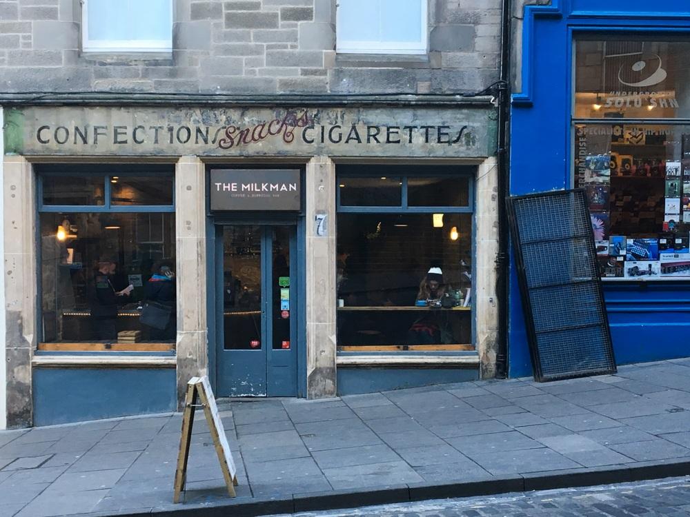 Edinburgh Shopping Guide Cockburn Street Milkman Coffee Shop