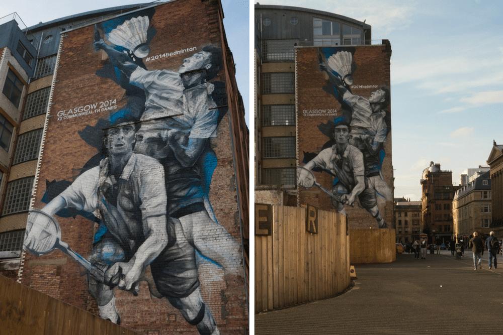 Badminton Mural Glasgow Mural Trail