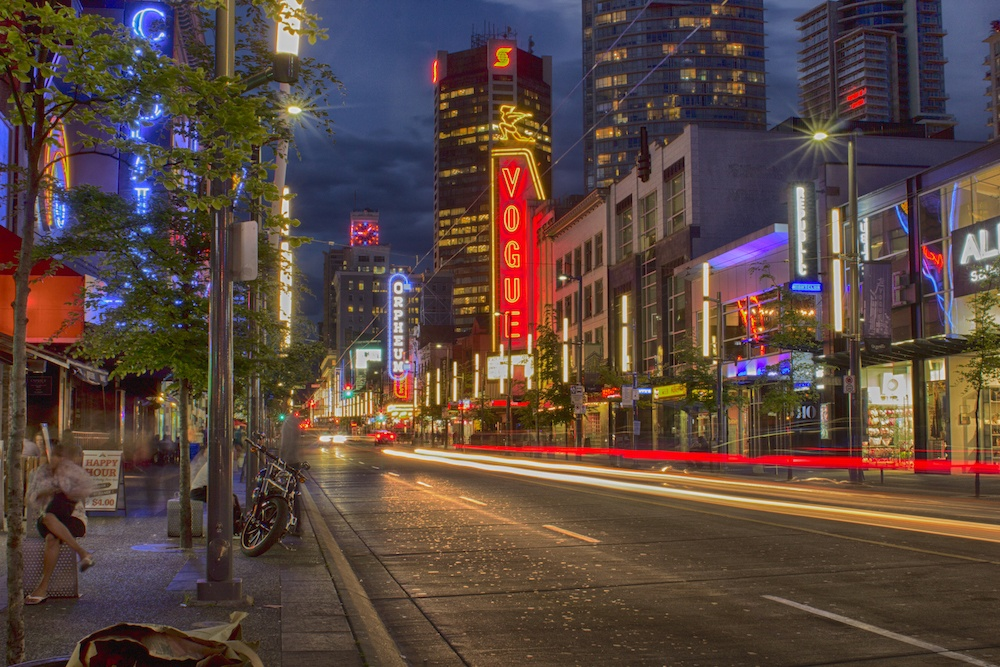 where to stay in Vancouver Granville Street