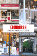 Edinburgh Shopping Guide Pinterest Pin