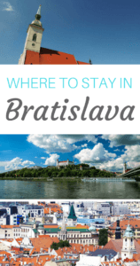 Where to Stay in Bratislava Pinterest Pin