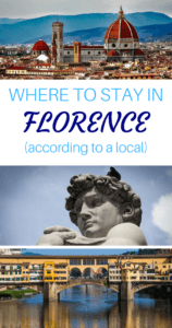 Where to Stay in Florence Pinterest Pin