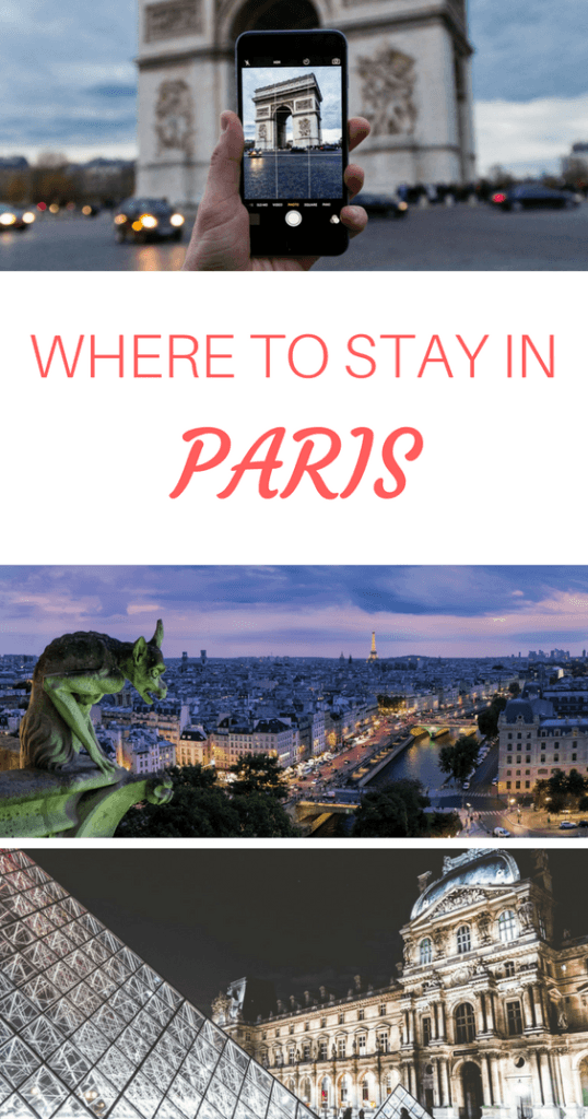 Where to Stay in Paris Pinterest Pin