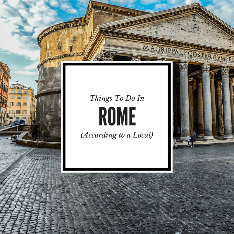 Locals Tips for Rome