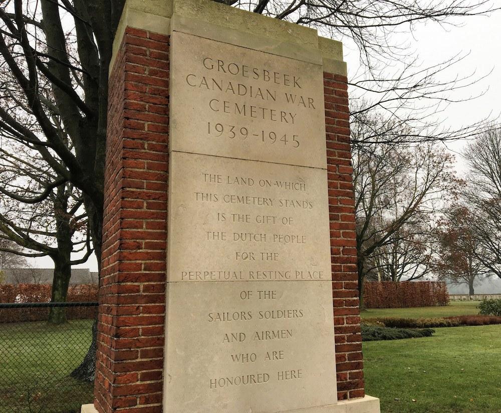 Groesbeek Canadian War Cemetery Entrance