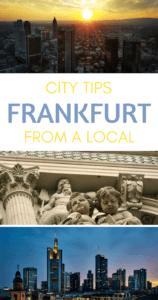 Things to do in Frankfurt Pinterest pin