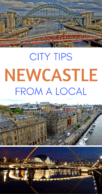 Things to do in Newcastle Pinterest pin