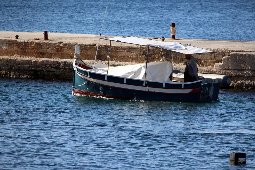 View of a boat in Malta