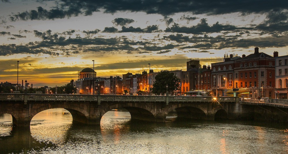 Where to stay in Dublin, Ireland - Dublin river and bridge photo