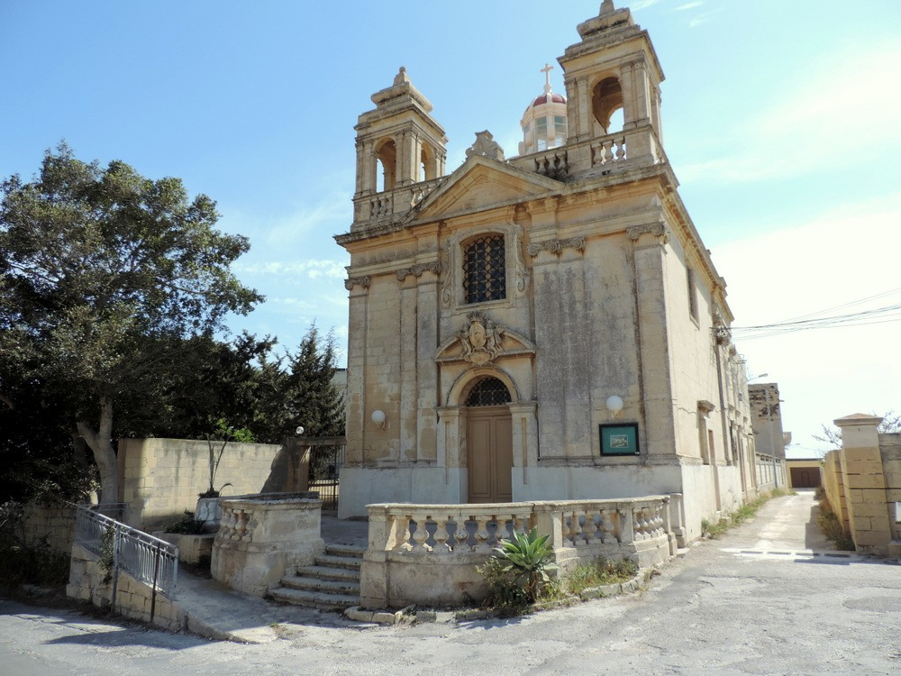View of a church in Malta
