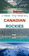 Canadian Rockies Itinerary Pinterest Pin