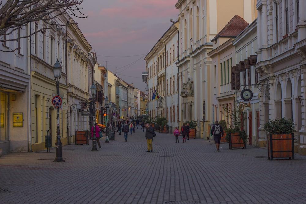 Pécs Hungary at Dusk
