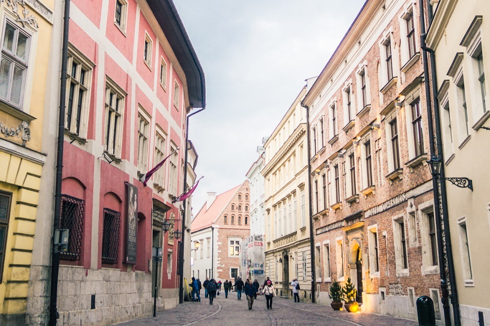 Street in Old Town in a Where to stay in Krakow guide