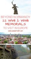 Remembrance Tourism in Europe Pinterest Pin