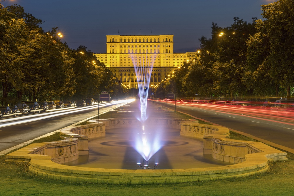 Bucharest Parliament at Night
