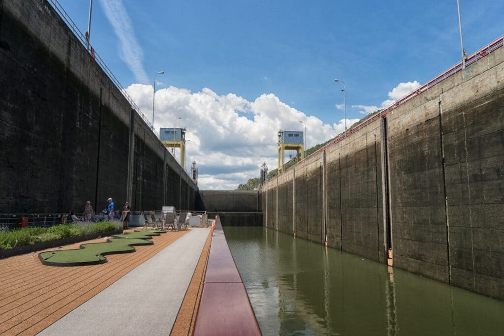 Iron Gates Lock 1 on Eastern Europe River Cruise