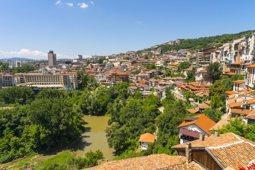 Veliko Tarnovo on a Budapest to Bucharest Cruise