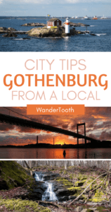 Gothenburg City tips from a local Pinterest pin